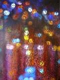 Gebroken glas.  Schilderij in opdracht  80 x 120