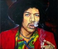 Jimi Hendrix 70 x 60