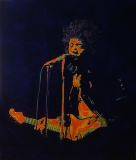 Jimi Hendrix  60 x 70  Olieverf & acryl