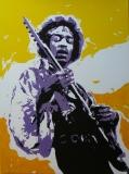 Jimi Hendrix pop-art 60 x 80  Acryl