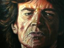 Mick Jagger, in opdracht. (Detail van groot doek: 120 x 100cm)