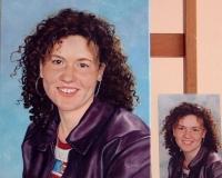 Portret meisje. In opdracht. 30 x 40 (rechts foto meisje)