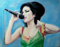 Amy Winehouse. In opdracht. 80 x 60