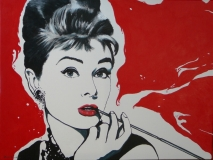 Audrey Hepburn pop-art 80 x 60 (Acryl)