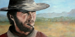 Clint Eastwood. In opdracht. 80 x 50
