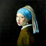 Meisje met de parel 60 x 60 (Vermeer)