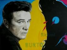 Richard Burton 80 x 60, acryl + olieverf