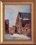 Stadsgezicht (privébezit) 18 x 24 (naar afb. schilderij Adrianus Eversen 1818-1897)